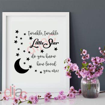 TWINKLE TWINKLE LITTLE STAR (D1)15 x 15 cm