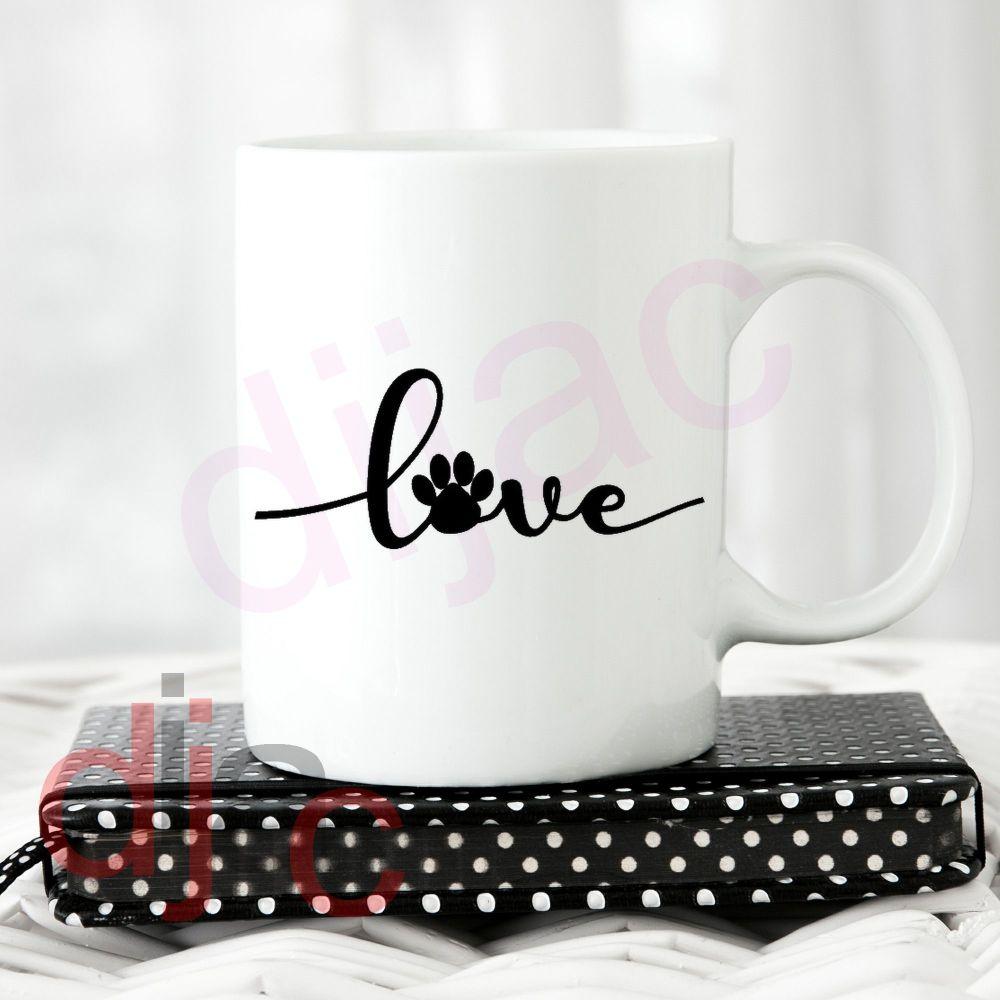 LOVE PAWPRINT3.5 x 8.5 cm
