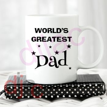 WORLD'S GREATEST DAD (D1) 7.5 x 8.5 cm