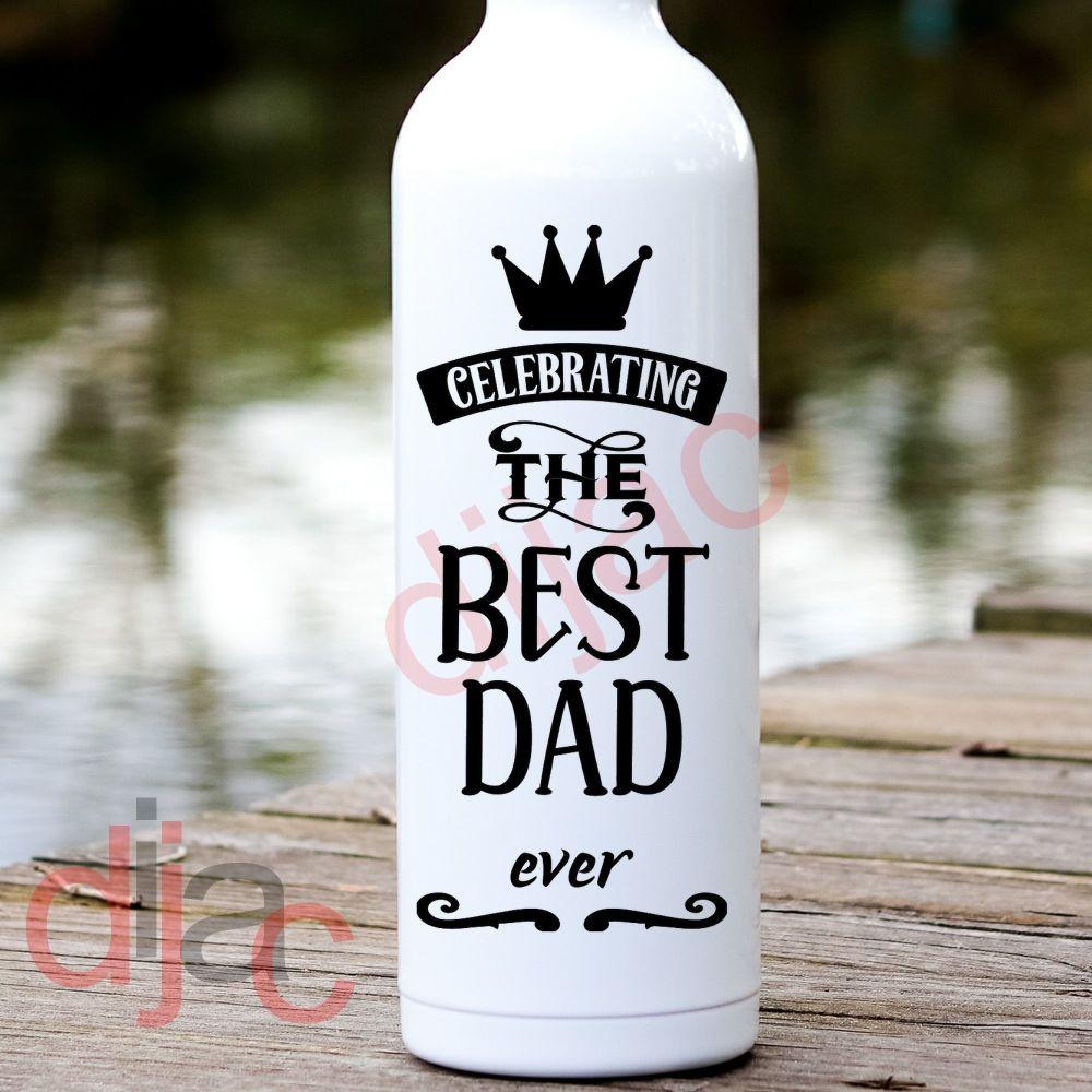 CELEBRATING THE BEST DAD EVER<br>8 x 17.5 cm
