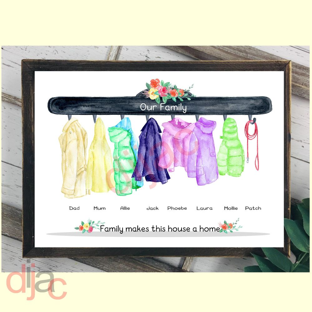 COAT RACK FAMILY (D2)DIGITAL PRINT
