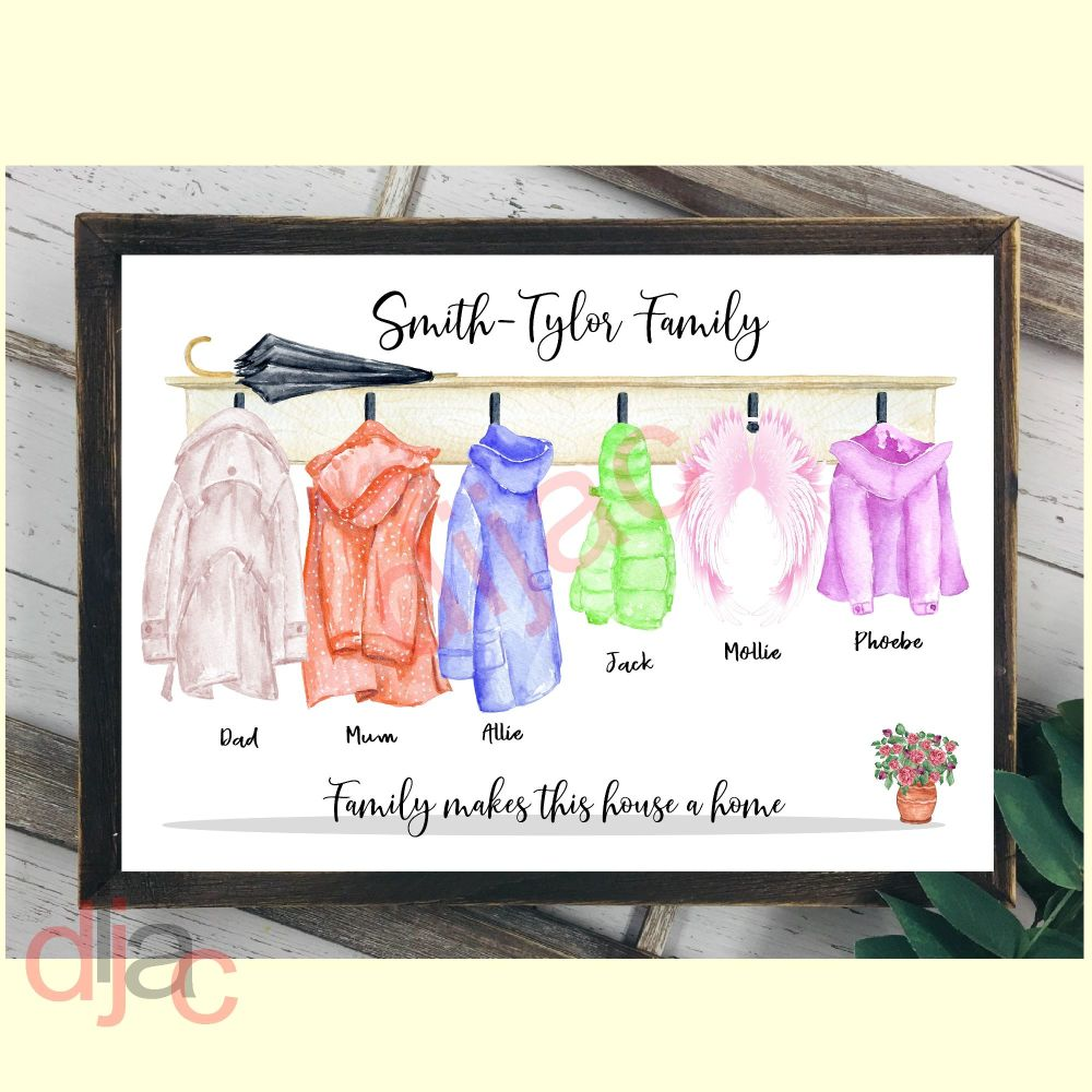 COAT RACK FAMILY (D1)DIGITAL PRINT