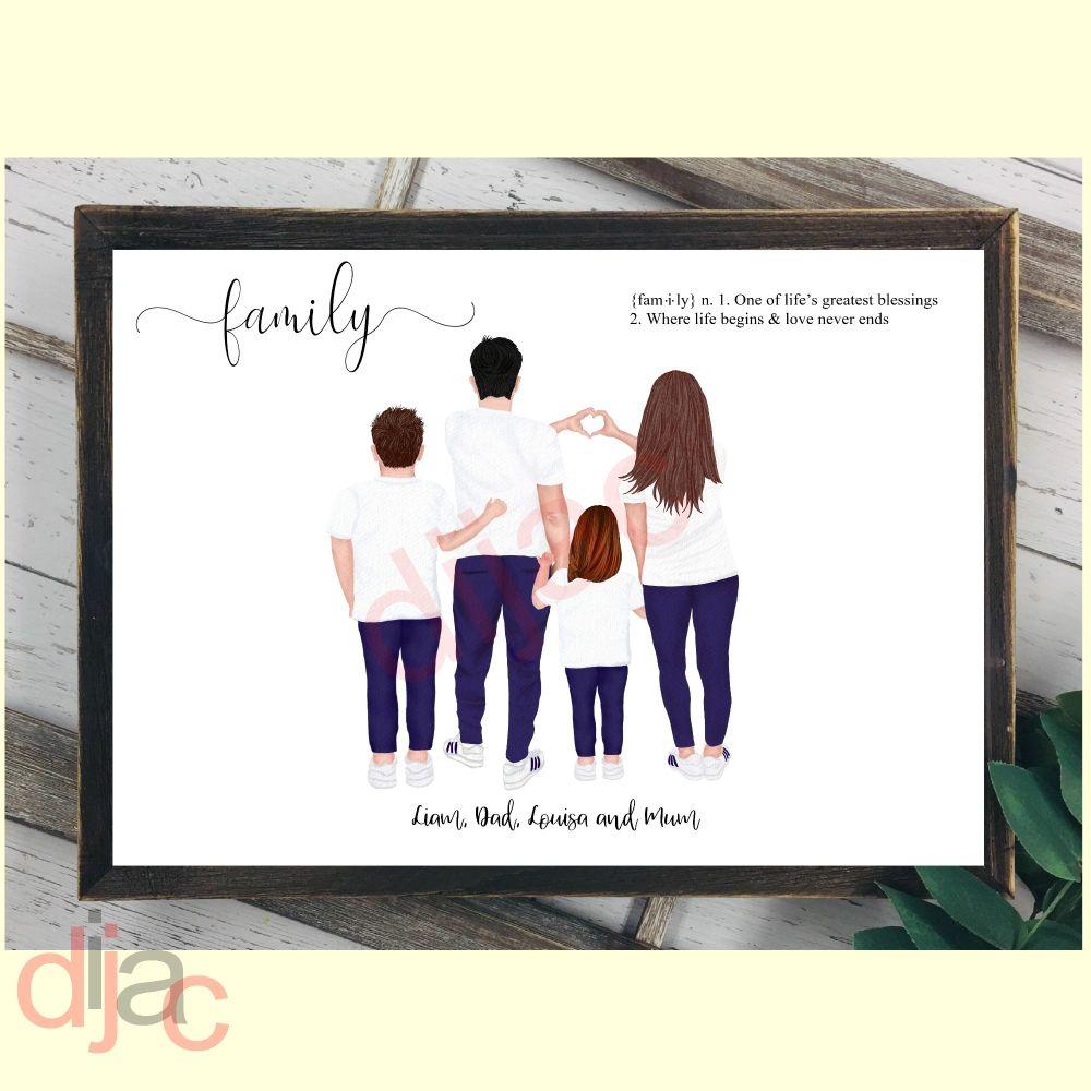 JEANS & T-SHIRTS FAMILY DIGITAL PRINT