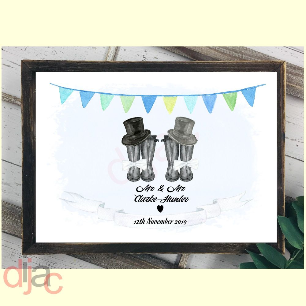 WEDDING WELLINGTONS MR & MR (D2)DIGITAL PRINT