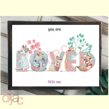 YOU ARE LOVED LITTLE ONEDIGITAL PRINT
