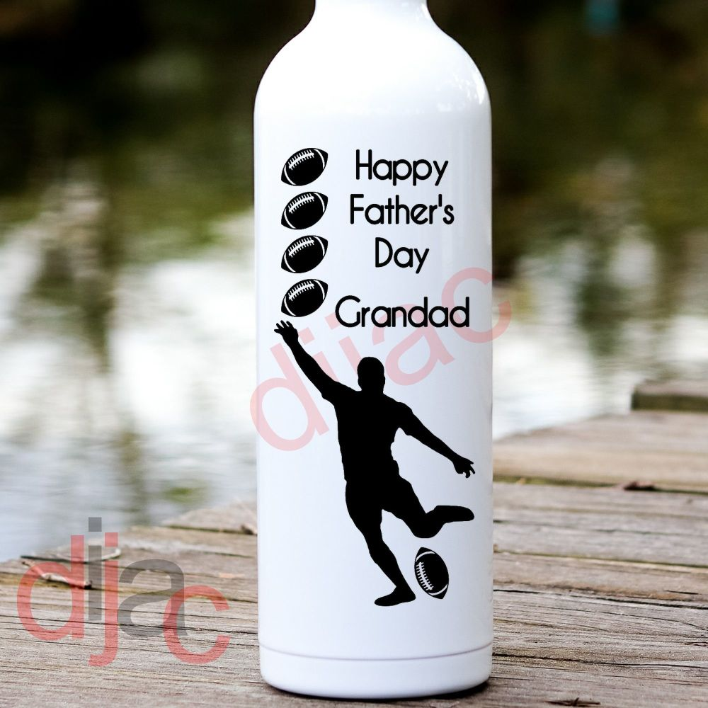 HAPPY FATHER'S DAY GRANDAD RUGBY<br>8 x 17.5 cm