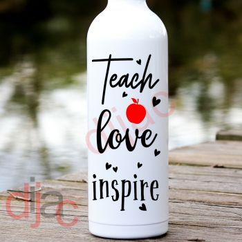 TEACH LOVE INSPIRE8 x 17.5 cm