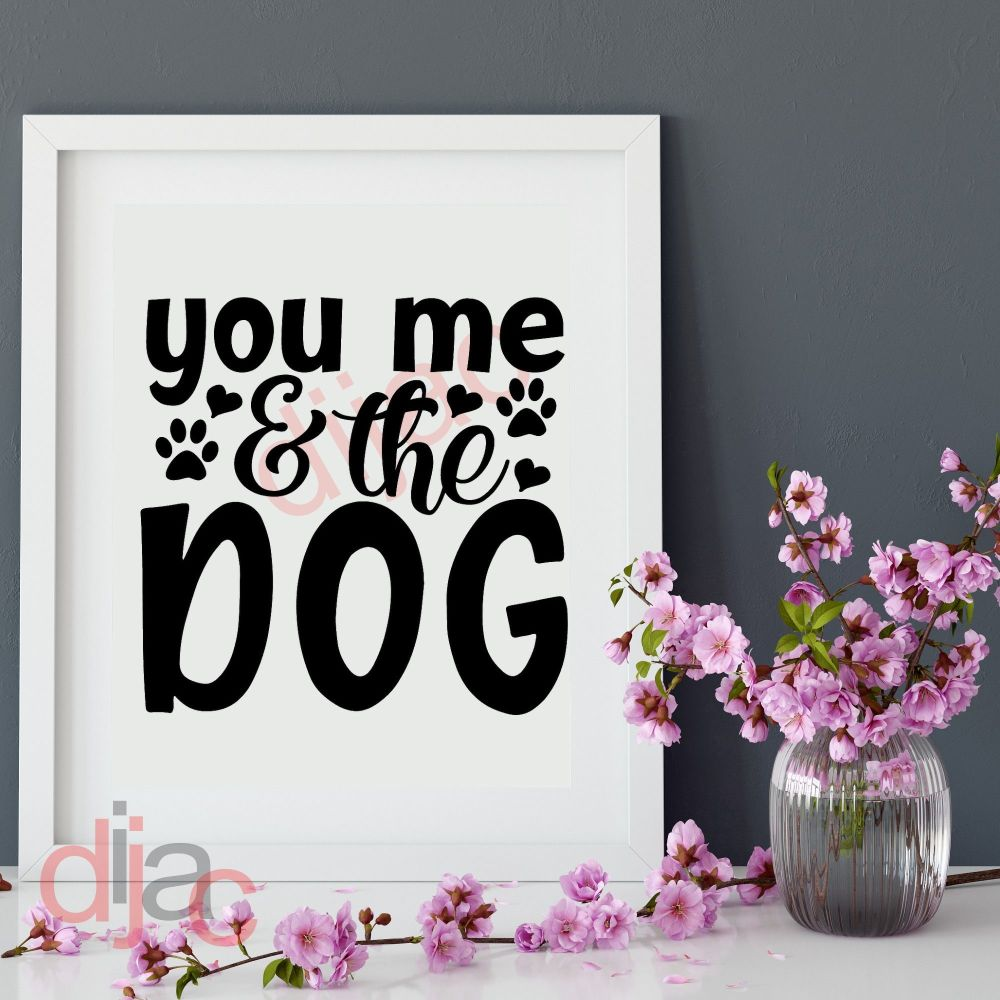 YOU, ME AND THE DOG<br>15 x 15 cm