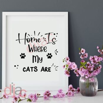 HOME IS WHERE MY CATS ARE15 x 15 cm