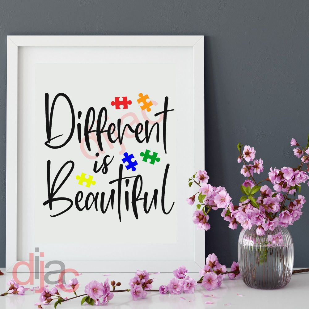 DIFFERENT IS BEAUTIFUL15 x 15 cm