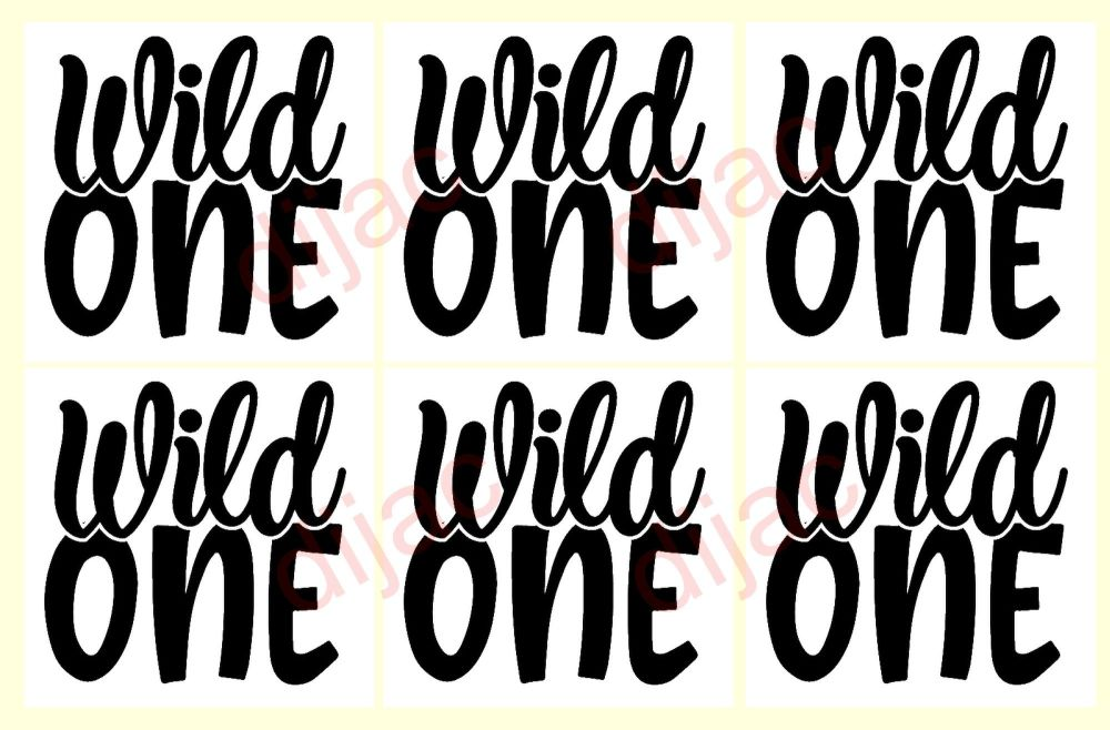 WILD ONE X 6<br>7.5 x 7.5 cm