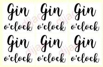 GIN O'CLOCK X 67.5 x 7.5 cm