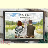 FATHER AND SON FISHING PRINT
