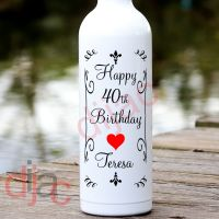 HAPPY BIRTHDAY (D3)<br>PERSONALISED<br>8 x 17.5 cm