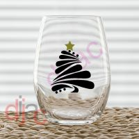 CHRISTMAS TREE<br>7.5 x 6.5 cm decal