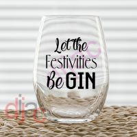 LET THE FESTIVITIES beGIN<br>7.5 x 7.5 cm decal