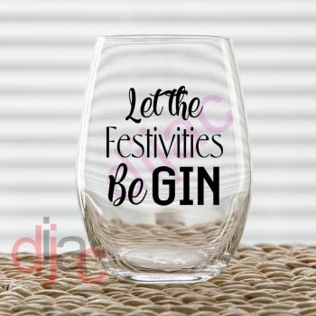 LET THE FESTIVITIES beGIN7.5 x 7.5 cm decal