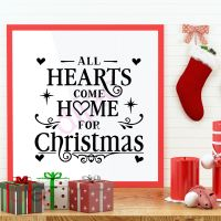 ALL HEARTS COME HOME FOR CHRISTMAS<br>15 x 15 cm