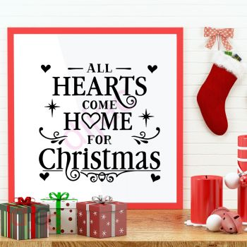 ALL HEARTS COME HOME FOR CHRISTMAS15 x 15 cm