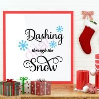 DASHING THROUGH THE SNOW (D2)<br>15 x 15 cm