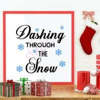 DASHING THROUGH THE SNOW (D1)<br>15 x 15 cm