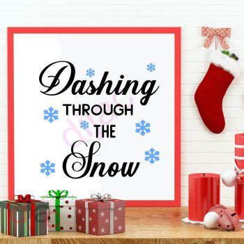 DASHING THROUGH THE SNOW (D1)15 x 15 cm