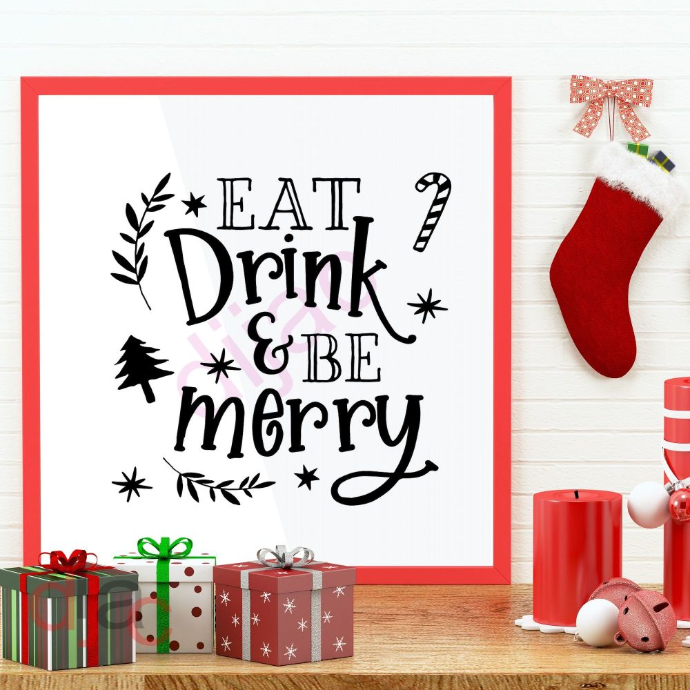 EAT DRINK AND BE MERRY<br>15 x 15 cm