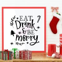 EAT DRINK AND BE MERRY (D2)<br>15 x 15 cm