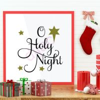 O HOLY NIGHT<br>15 x 15 cm