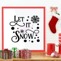 LET IT SNOW (D2)<br>15 x 15 cm