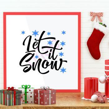 LET IT SNOW (D1)15 x 15 cm