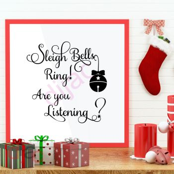SLEIGH BELLS ARE YOU LISTENING15 x 15 cm