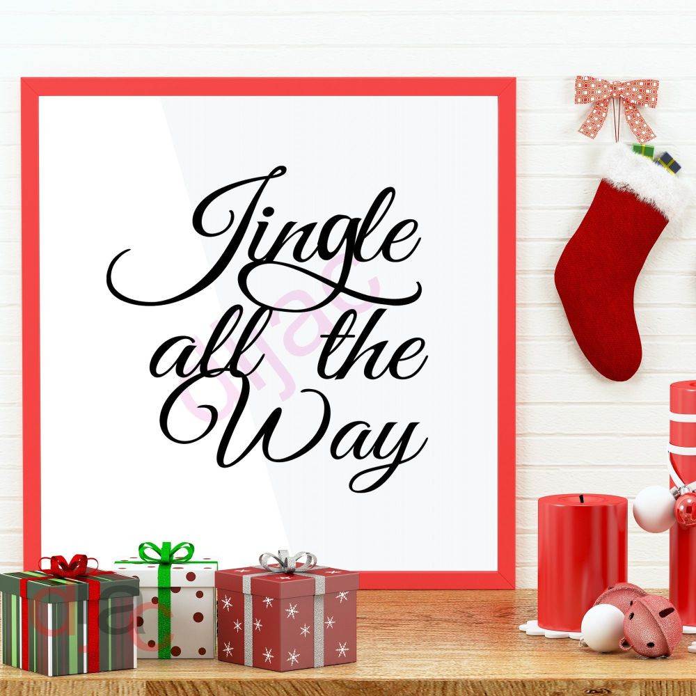 JINGLE ALL THE WAY (D2)<br>15 x 15 cm