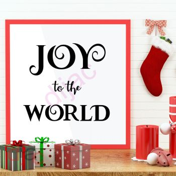 JOY TO THE WORLD (D1)15 x 15 cm