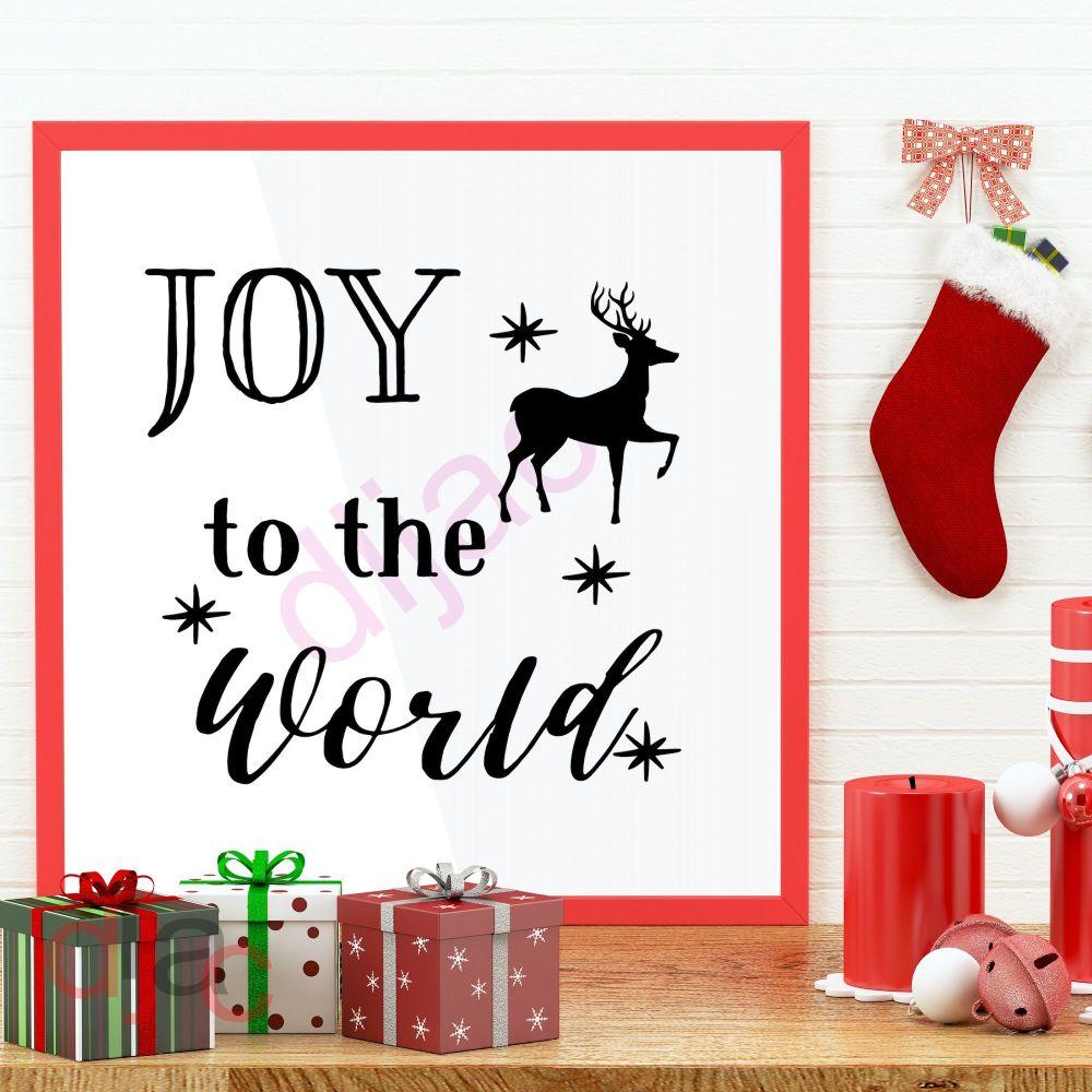 JOY TO THE WORLD (D2)15 x 15 cm