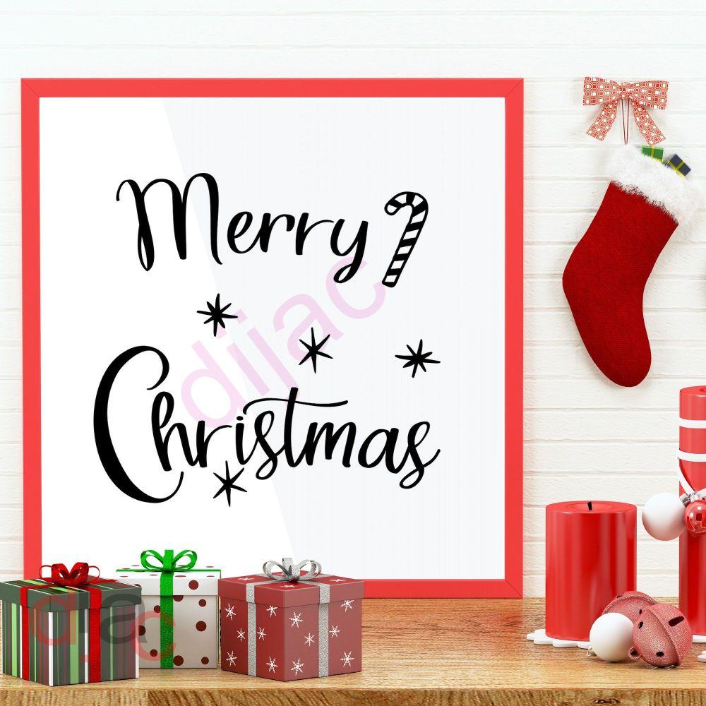 MERRY CHRISTMAS<br>15 x 15 cm