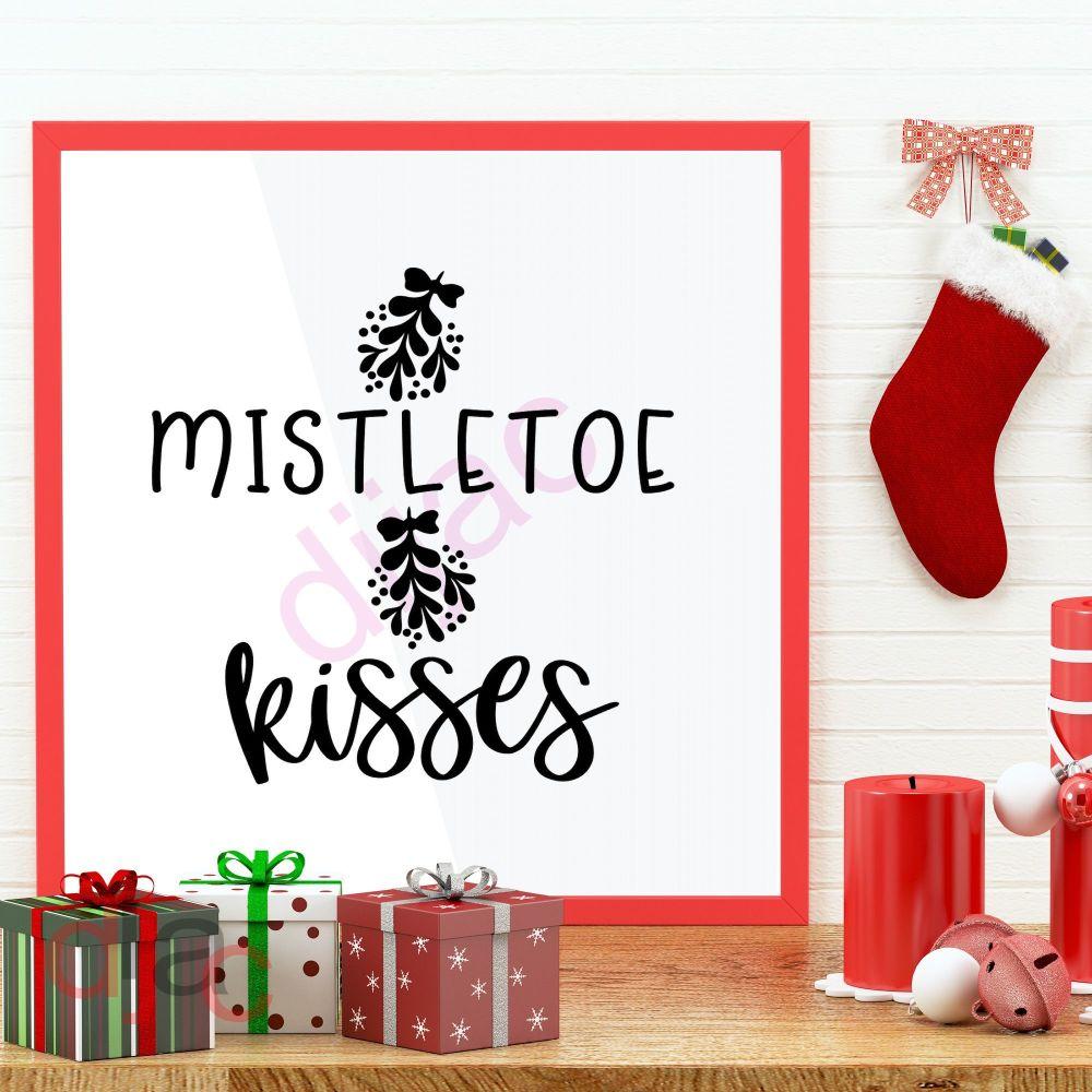 MISTLETOE KISSES (D2)15 x 15 cm