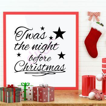 TWAS THE NIGHT BEFORE CHRISTMAS15 x 15 cm
