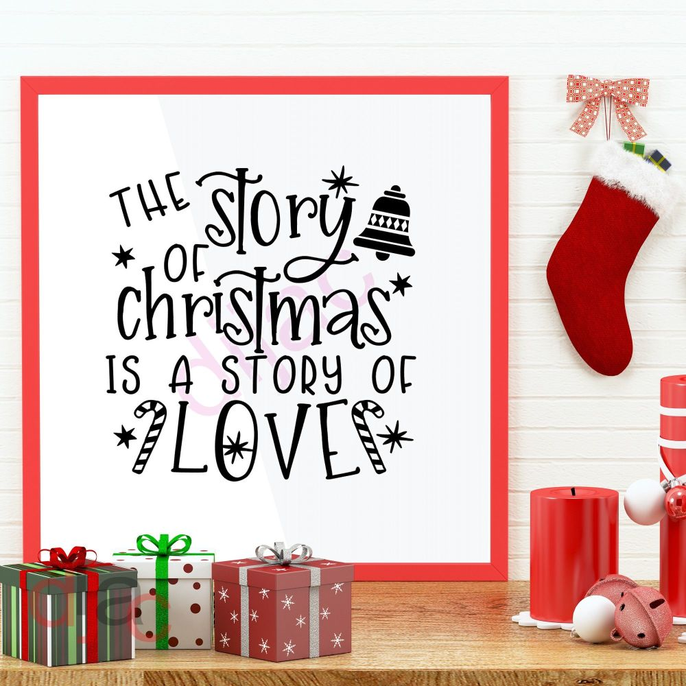 THE STORY OF CHRISTMAS IS A STORY OF LOVE (D2)15 x 15 cm