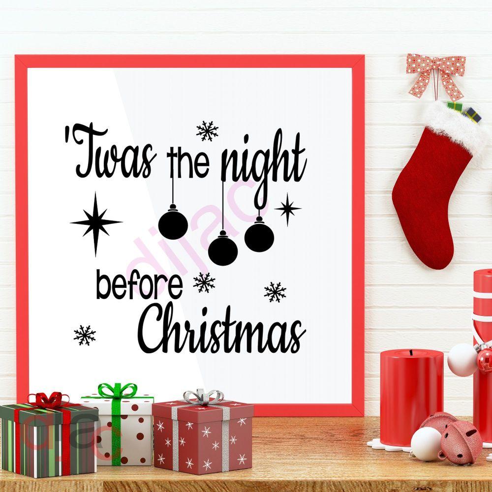 TWAS THE NIGHT BEFORE CHRISTMAS<br>15 x 15 cm