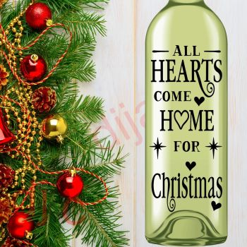 ALL HEARTS COME HOME FOR CHRISTMAS8 x 17.5 cm decal