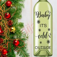 BABY IT'S COLD OUTSIDE (D2)<br>8 x 17.5 cm decal
