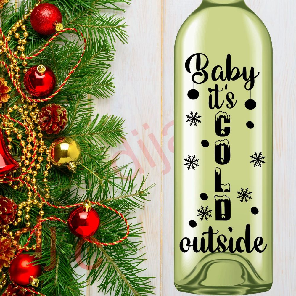 BABY IT'S COLD OUTSIDE (D3)<br>8 x 17.5 cm decal