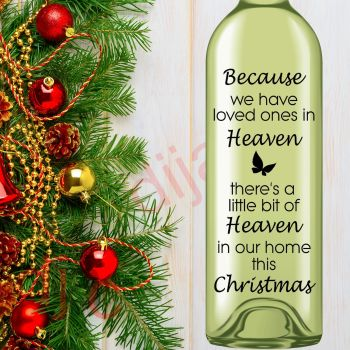 HEAVEN IN OUR HOME THIS CHRISTMAS (D1)8 x 17.5 cm decal
