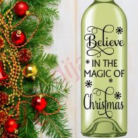 BELIEVE IN THE MAGIC OF CHRISTMAS<br>8 x 17.5 cm decal