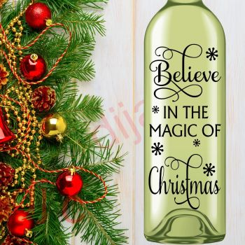 BELIEVE IN THE MAGIC OF CHRISTMAS8 x 17.5 cm decal
