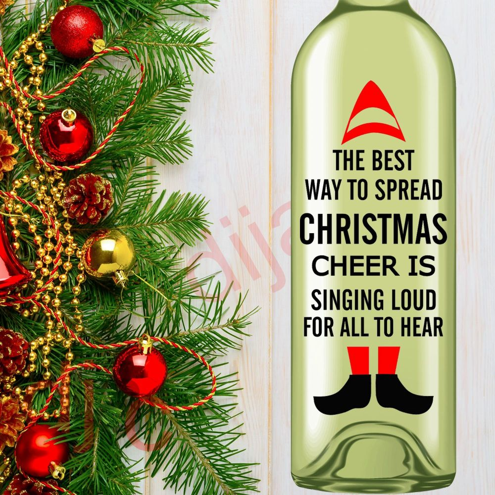 THE BEST WAY TO SPREAD CHRISTMAS CHEER<br>8 x 17.5 cm decal