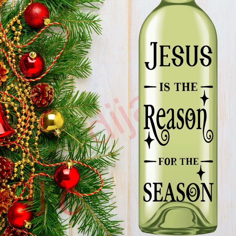 JESUS IS THE REASON FOR THE SEASON<br>8 x 17.5 cm decal