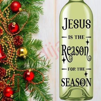 JESUS IS THE REASON FOR THE SEASON8 x 17.5 cm decal