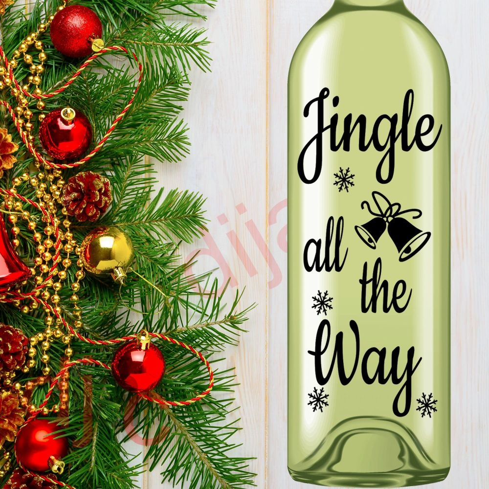 JINGLE ALL THE WAY<br>8 x 17.5 cm decal